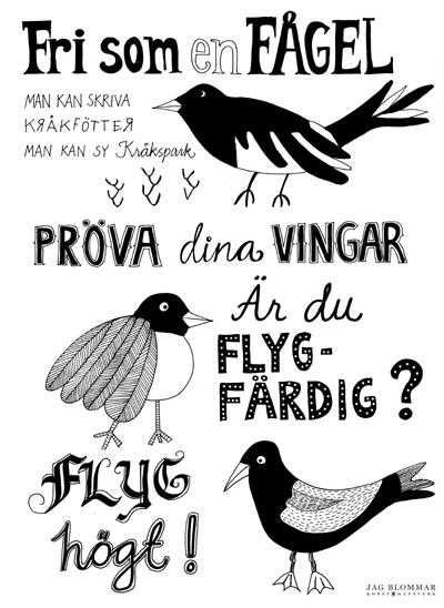Fåglar_affischW