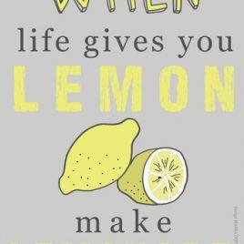"Tryck ""Lemon"""