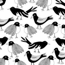 "Tryck ""BIRDS"""