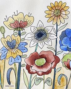 Tryck Blommande äng 1