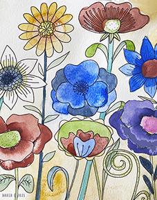 Tryck Blommande äng 2