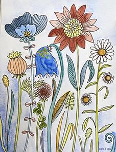 Tryck Blommande äng 3